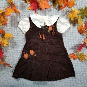 2/$24 Brown corduroy Fall/Thanksgiving dress